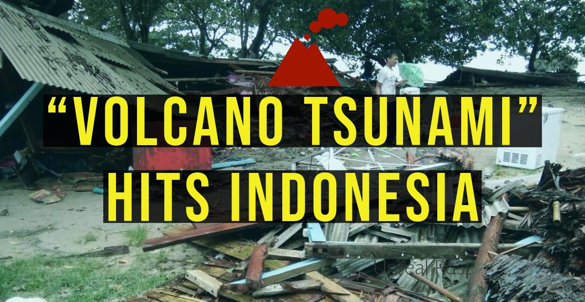 Volcano Tsunami Hits Sundra Strait Beaches in Indonesia 222 Dead and Over 800 Missing