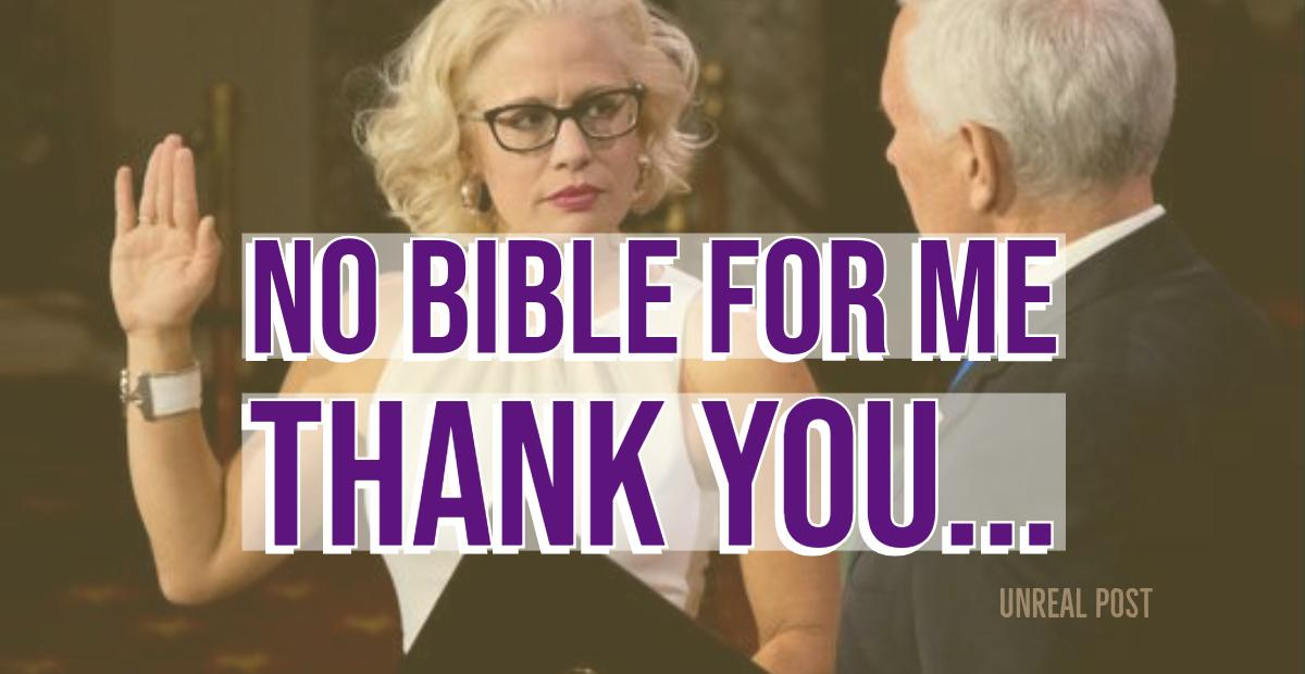 Democrat Kyrsten Sinema Refuses to Use Bible to Take Oath of Office