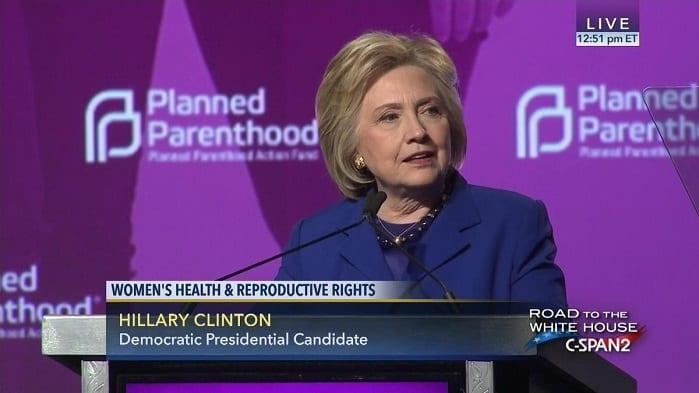 Hillary Clinton Defends Late-Term Abortion: OK to Kill Those Babies Because It's Just 12,000 a Year