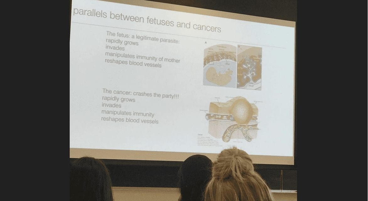 College Professor Teaching Future Doctors Compares Unborn Babies to Parasites