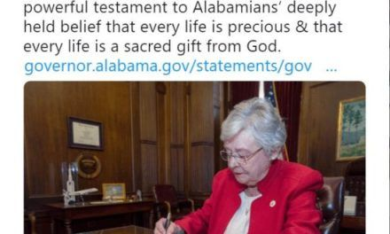 Alabama Governor Signs Bill Banning Abortions Punishment is for the Abortion Provider