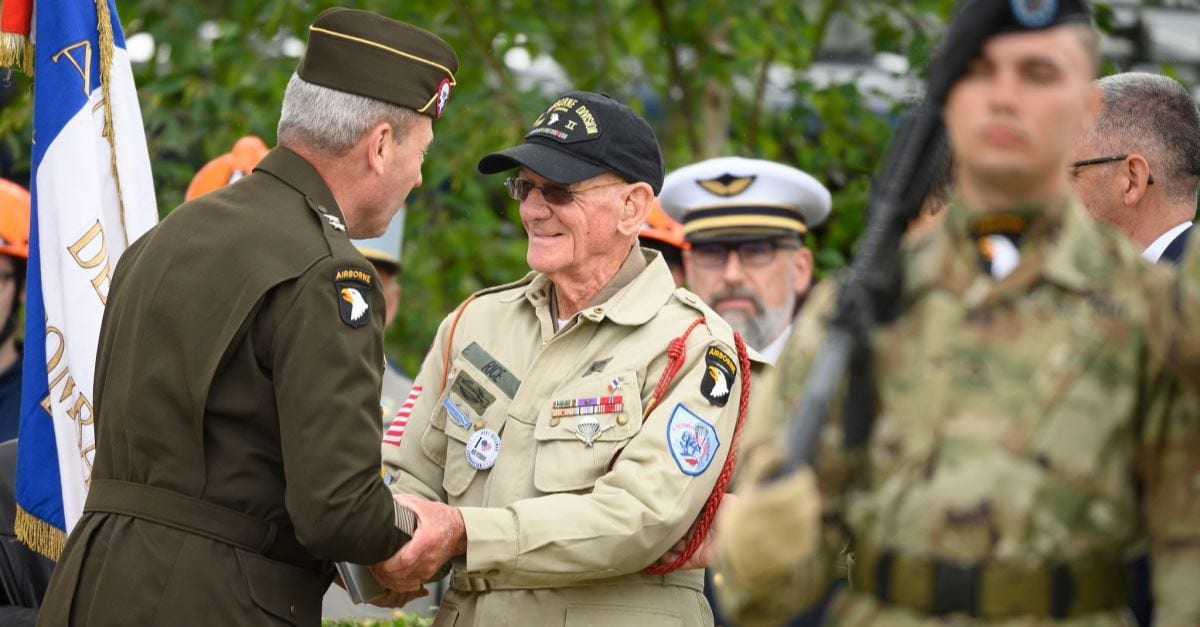 97-Year-Old D-Day Veteran Parachutes into Normandy for the First Time in 75 Years