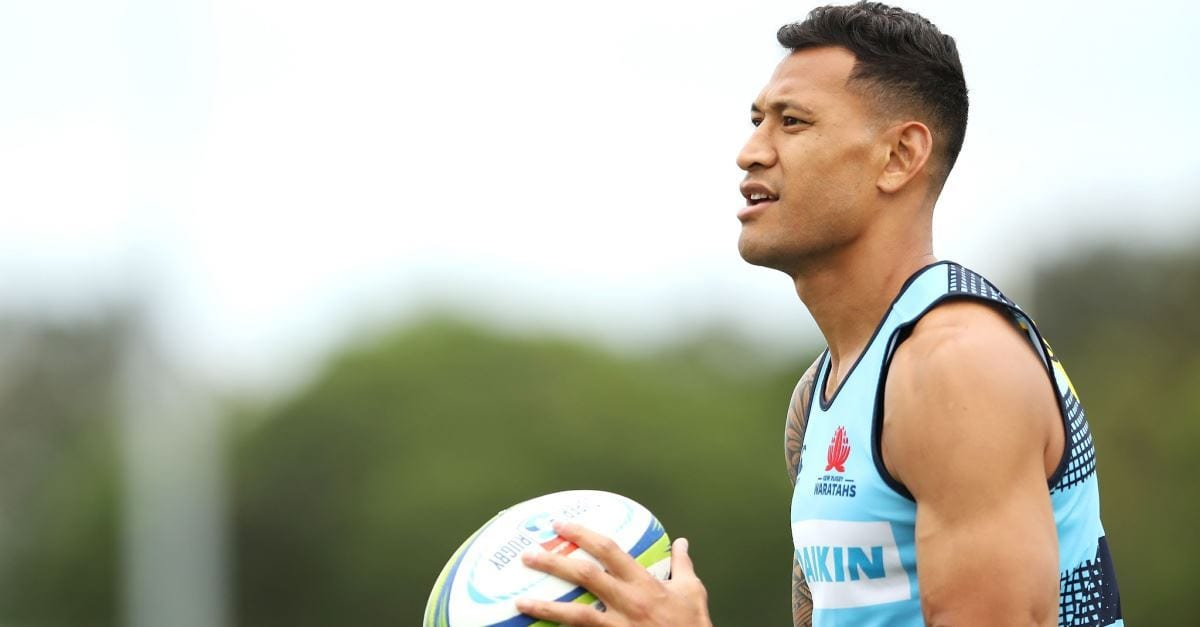 The Devil Is Responsible for the Lie of Transgender Rights for Kids, Says Israel Folau