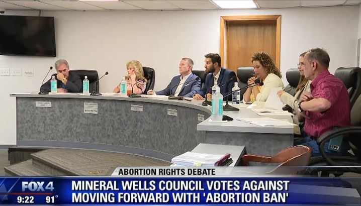 Texas Town Council Votes Down Mayor's 'Sanctuary for Unborn' Ordinance for Fear of Lawsuit