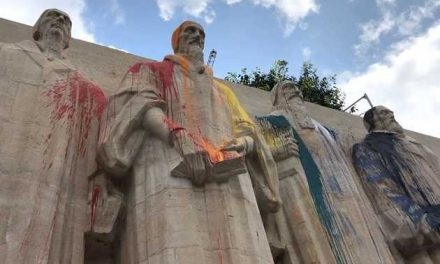 Reformation Wall in Geneva, Switzerland Vandalized With Rainbow Colors