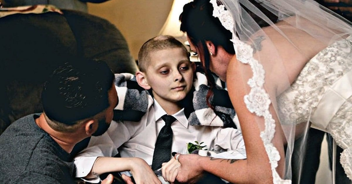 12-Year-Old Boy Walks Mom Down Aisle Just Before Leaving For Heaven