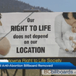 Pro-Life Billboard Censored and Taken Down, Even Though Its Message is Accurate