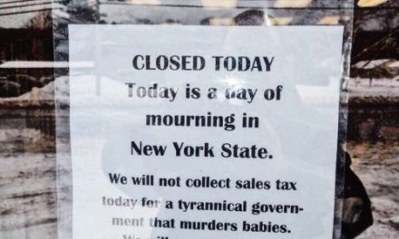 Book Store Closes Down So It Won't Have to Collect Taxes for New York, Which Legalized Abortions Up to Birth