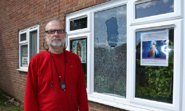 "Abortion Activists Smash Christian Man's Window After He Posts ""Pray to End Abortion"" Sign"