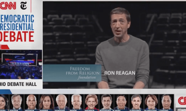 CNN Democrat debate features atheist commercial mocking 'burning in hell,' Christianity, God