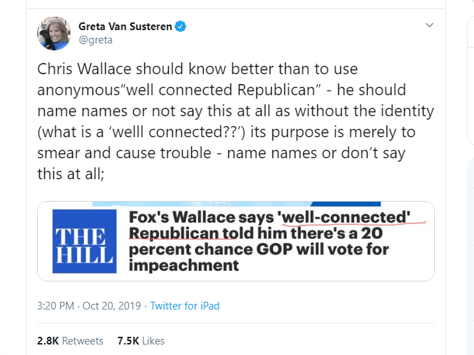 Former Fox News Host Greta Van Susteren Calls Out Chris Wallace for 'Smearing Trump'