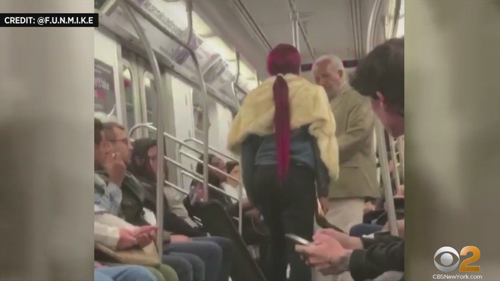 Shocking Video: Woman Bloodies 79-Year-Old Man With Stiletto Heel For Preaching On The Subway